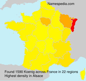 Surname Koenig in France