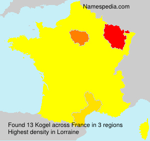 Surname Kogel in France