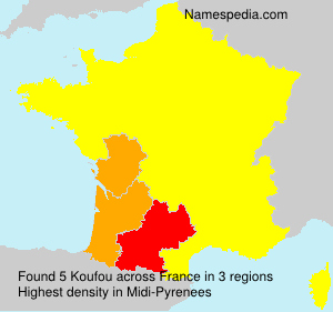Surname Koufou in France