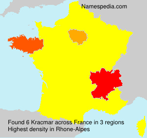 Surname Kracmar in France