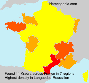 Surname Kradra in France