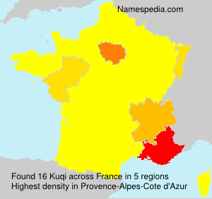 Surname Kuqi in France