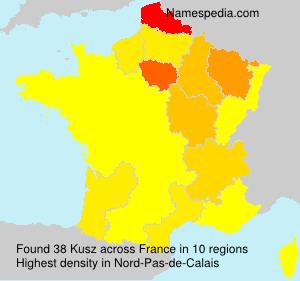 Familiennamen Kusz - France