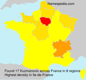 Surname Kuzmanovic in France