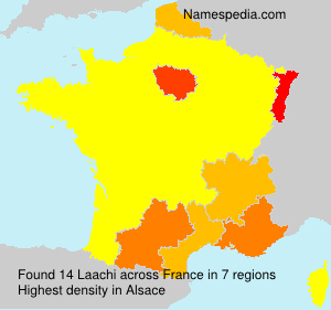 Surname Laachi in France