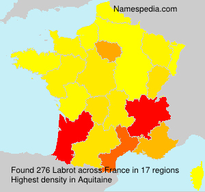 Surname Labrot in France
