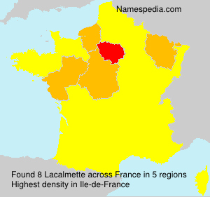 Surname Lacalmette in France