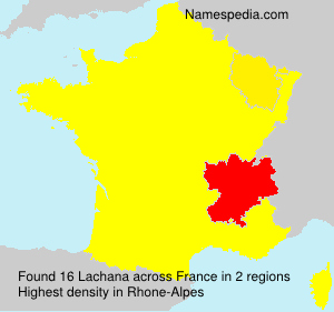 Surname Lachana in France