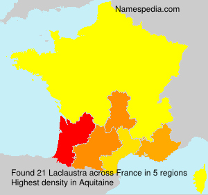 Surname Laclaustra in France