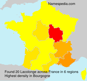 Surname Lacolonge in France