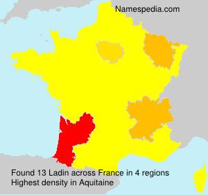 Familiennamen Ladin - France