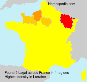 Surname Lagal in France