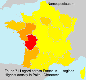 Surname Lagord in France