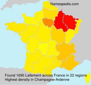 Surname Lallement in France