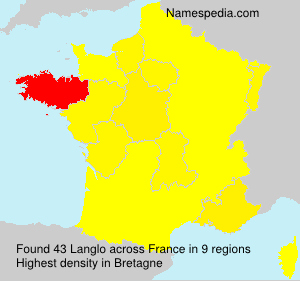 Surname Langlo in France