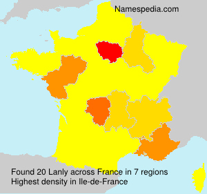 Surname Lanly in France