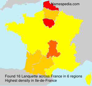 Surname Lanquette in France