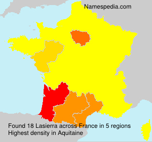 Surname Lasierra in France