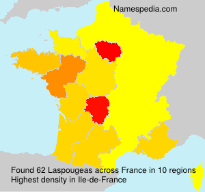 Surname Laspougeas in France
