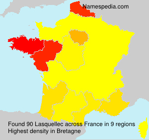 Surname Lasquellec in France