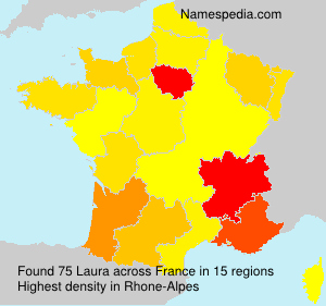 Surname Laura in France