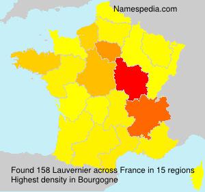 Surname Lauvernier in France