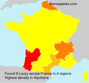 Surname Lauzy in France