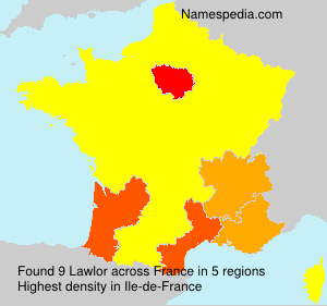 Surname Lawlor in France