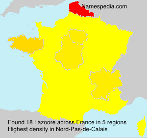 Surname Lazoore in France