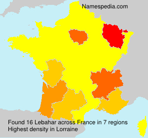Surname Lebahar in France