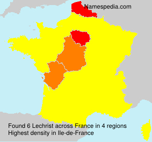 Surname Lechrist in France