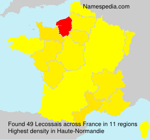 Surname Lecossais in France