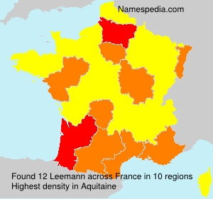 Surname Leemann in France