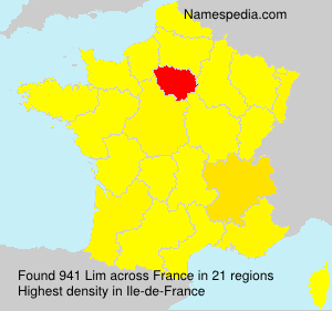 Surname Lim in France