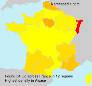 Surname Lio in France
