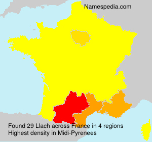 Surname Llach in France