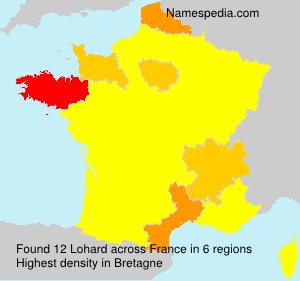 Surname Lohard in France