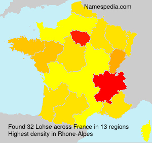 Surname Lohse in France
