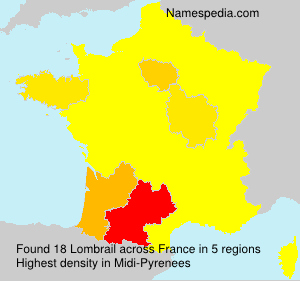 Surname Lombrail in France