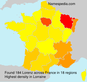 Surname Lorenz in France