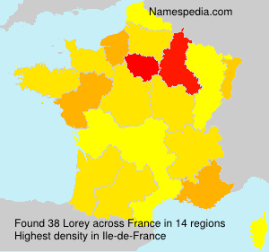 Surname Lorey in France