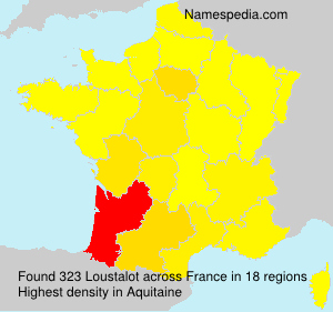 Surname Loustalot in France
