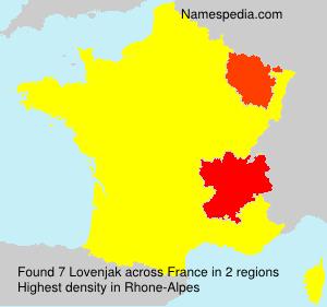 Familiennamen Lovenjak - France