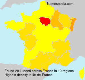 Surname Lucenti in France