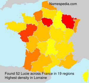 Surname Lucie in France