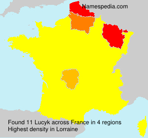 Surname Lucyk in France