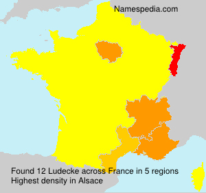 Surname Ludecke in France