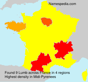 Surname Lumb in France