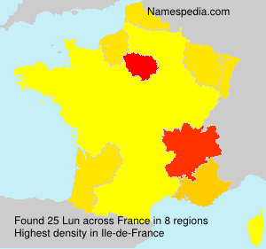 Surname Lun in France