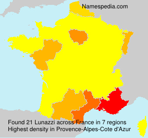 Surname Lunazzi in France